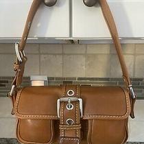 Michael Kors Leather Buckle Double Pocket Shoulder Bag Handbag Purse Photo