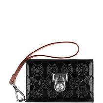 Michael Kors Leather Clutch Apple Iphone 4s 16gb 32gb 64gb Wallet Jet Set Black Photo