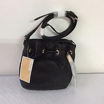 Michael Kors Leather Crossbody Ring Tote Handbag Black Nwt 149 Photo