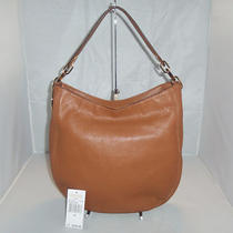 Michael Kors  Leather Fulton Medium Chain Hobo Bag Shoulder Bag Handbag Tote Photo