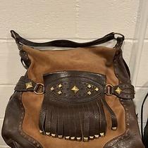 Michael Kors Leather Handbag Purse Brown Large Photo