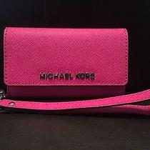 Michael Kors Leather Phone Wristlet for Iphone 5c/5s Nwt Photo