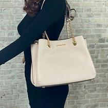Michael Kors Leather Teagen Chain Shoulder Bag Purse 448 Powder Blush Photo