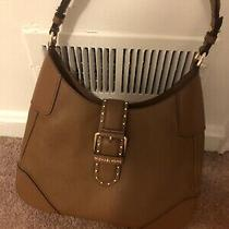 Michael Kors Lillian Medium Leather Shoulder Hobo Bag Brown Luggage Photo