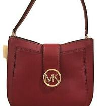 Michael Kors Lillie Hobo Messenger Leather Handbag Photo