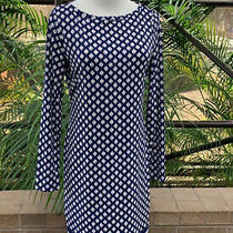 Michael Kors Long Sleeve Dress Size Small Navy Photo