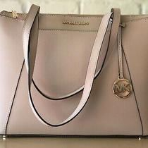 Michael Kors Maddie Pink Ballet Blush Leather Tote Bad Purse New 248 Photo