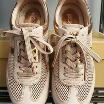 Michael Kors Maggie Trainer Fashion Sneaker Soft Pink/blush White Size 6m Photo