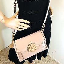 Michael Kors Margo Messenger Crossbody Bag- Blush/light Pink Photo