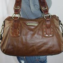 Michael Kors Medium Brown Leather Shoulder Hobo Tote Satchel Slouch Purse Bag Photo