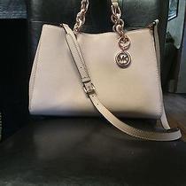 Michael Kors Medium Cynthia Blush Satchel Handbag Photo