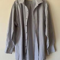 Michael Kors Men's Casual Dress Shirt Button Down Regular Fit Gray Size 16 32/33 Photo
