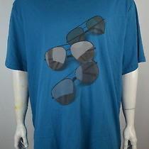 Michael Kors Men's T Shirt 4xl Aviator Sunglasses Tee Coast Blue Nwt Photo