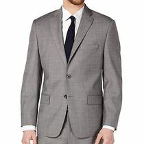 Michael Kors Mens Blazer Blue Gray Size 38 Short Wool Kris Two-Button 450 012 Photo