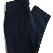 Michael Kors Mens Cotton Straight Leg Pants Navy Blue Size 32 Photo