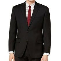 Michael Kors Mens Sport Coat Black Size 44 Blazer Two Button Wool 325 074 Photo