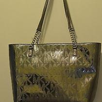 Michael Kors Metallic Charcoal 1 Left With Metal Chain Straps Photo