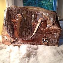 Michael Kors Metallic Rose Gold Satchel Bag Photo