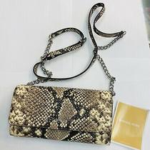 Michael Kors Micro Stud Embossed Leather Convertible Wallet on Chain Crossbody  Photo