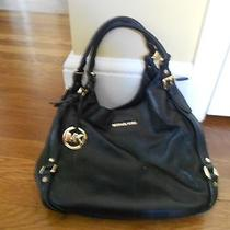 Michael Kors Middleton Hobo Bag Black Leather Purse Shoulder Bag Photo