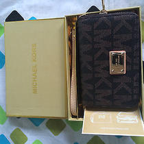Michael Kors  Mk Brown Monogram Essential Zip Wallet Case for Iphone 4  5  - Usa Photo
