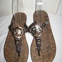 Michael Kors Mk Charm Jelly Thong Sandal Shoes Size 5 Photo