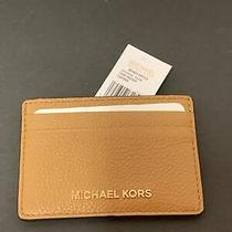 Michael Kors Money Piece Card Holder Leather Luggage/9 Br Photo