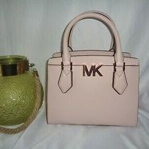 Michael Kors Mott Medium Messenger Satchel Crossbody Handbag Powder Blush Leathe Photo
