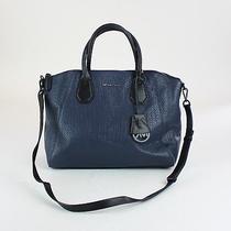 Michael Kors Navy Leather Campbell Large Satchel Bag Photo