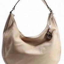 Michael Kors New Beige Pebble Leather Lydia Large Hobo Shoulder Bag 298- 039 Photo