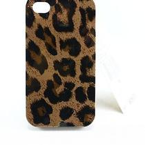 Michael Kors New Black Leopard Print Plastic Hard Cover Case Iphone 4 38- Photo