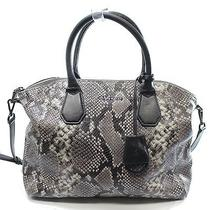 Michael Kors New Black Python Embossed Campbell Satchel Bag Purse 448- 030 Photo