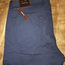 Michael Kors Parker Slim Fit Blue Stretch Casual Career Workwear Pants 34 X 32 Photo