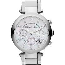 Michael Kors Parker Women's Mk5700 Silver Chronograph Stainless Steel Watch New Photo