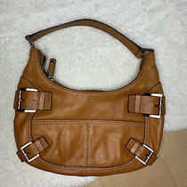 Michael Kors Pebble Leather Buckle Accent Hobo Shoulder Bag Photo