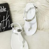 Michael Kors Plate Jelly Sandals Optic White Size 8m Photo