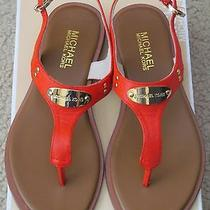 Michael Kors Plate Thong Leather Sandals Nwob Photo