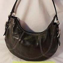 Michael Kors Purse Shoulder Bag Handbag Tote Hobo Black Euc Photo