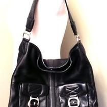Michael Kors Ranger Black Leather Extra Large Hobo Handbag Authentic Photo