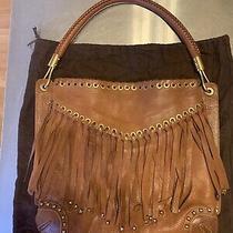 Michael Kors Rare Skorpios Fringe Hobo Shoulder Bag Made in Italy Dust Bag/tag Photo