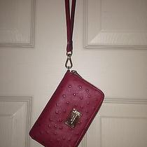 Michael Kors Red Ostrich Iphone Wristlet Photo