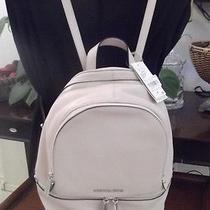 Michael Kors Rhea Zip Small Backpack Ballet Blush Leather Nwt Photo