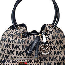 Michael Kors Ring Tote and Wallet in Beige and Black Photo