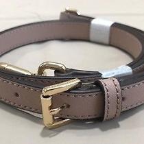 Michael Kors Saffiano Leather Handbag Adjustable Strap  Fawn/gold  Nwot Photo