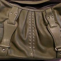 Michael Kors Sage Green Shoulder Handbag Astor Excellent Condition Photo