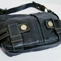 Michael Kors Satchel Harness Grab Black Leather Tote Shoulder Bag Purse Handbag Photo