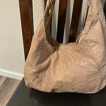Michael Kors Shoulder/tote/purse Medium Cream Shiny Animal Print Fabric Photo