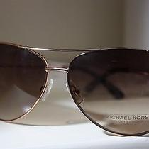 Michael Kors Sicily M2045s Rose Gold Brown Frame Aviator Sunglasses Shades Spf  Photo