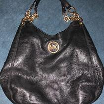Michael Kors Signature Black Fulton Shoulder Hobo Shoulder Bag Immaculate Photo