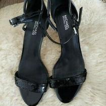 Michael Kors Simone Mid Women's Heels Sandals/black Size 8 Photo
